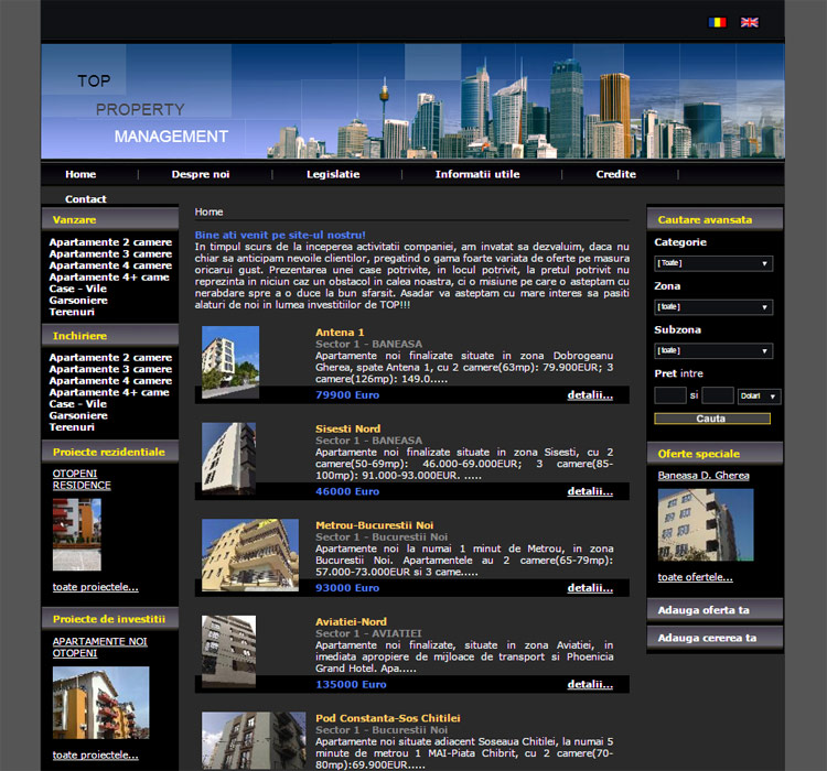 Site Imobiliare - Top Property Management
