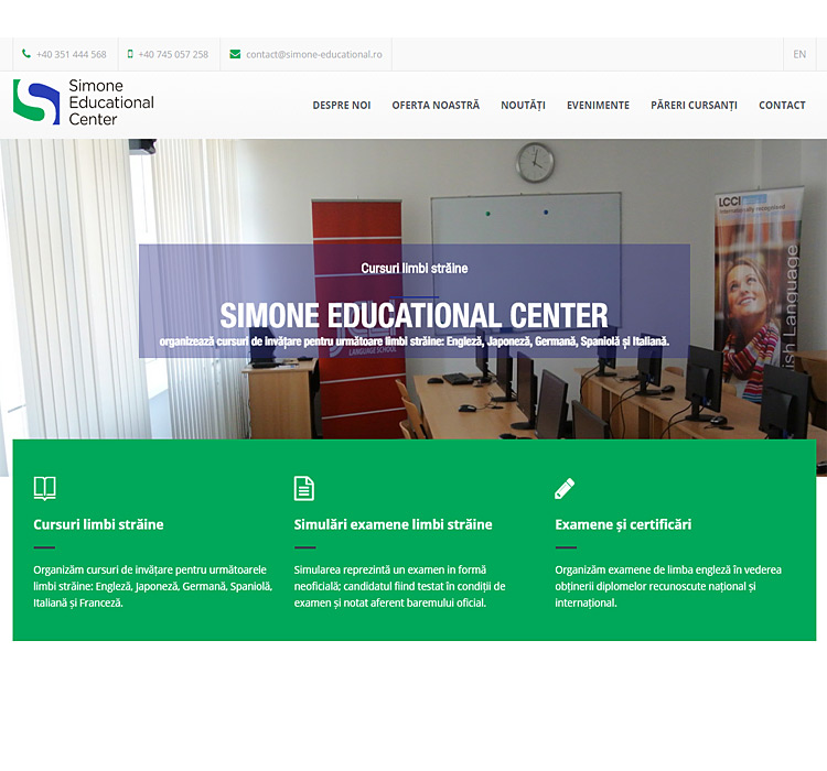 Dezvoltare website responsive SIMONE-EDUCATIONAL.RO