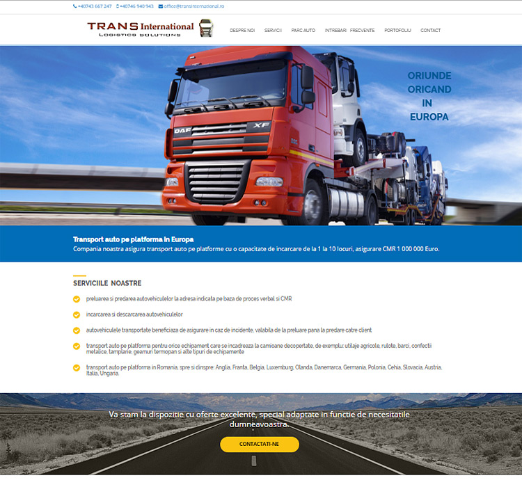 Website transportator